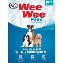 """Four Paws Wee-Wee Pads 10 pack White 22"""" x 23"""" x 0.1"""""""