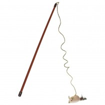 "Our Pets Flick'n Stick Wand Cat Toy Brown 2.75"" x 1.2"" x 18"""