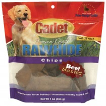 Cadet Rawhide Chips Beef Basted 1 pound