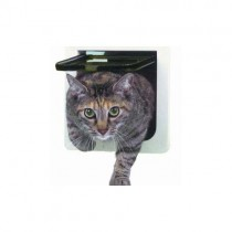 """Ideal Pet Products Lockable Cat Flap Door Small White 1.625"""" x 8.18"""" x 7.94"""""""