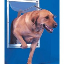 """Ideal Pet Products Deluxe Aluminum Pet Door Extra Large White 2.12"""" x 12.81"""" x 18.75"""""""