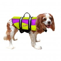 Pawz Pet Products Neoprene Dog Life Jacket Yellow/Purple