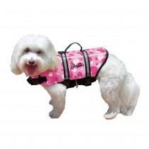 Pawz Pet Products Nylon Dog Life Jacket Pink Bubbles