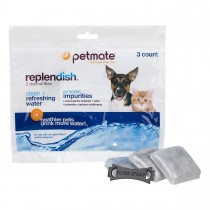 Petmate Replendish Replacement Filters 3 pack with 1 filter strap